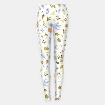 Watercolor leaf Pattern Botanicals Leggings thumbnail image