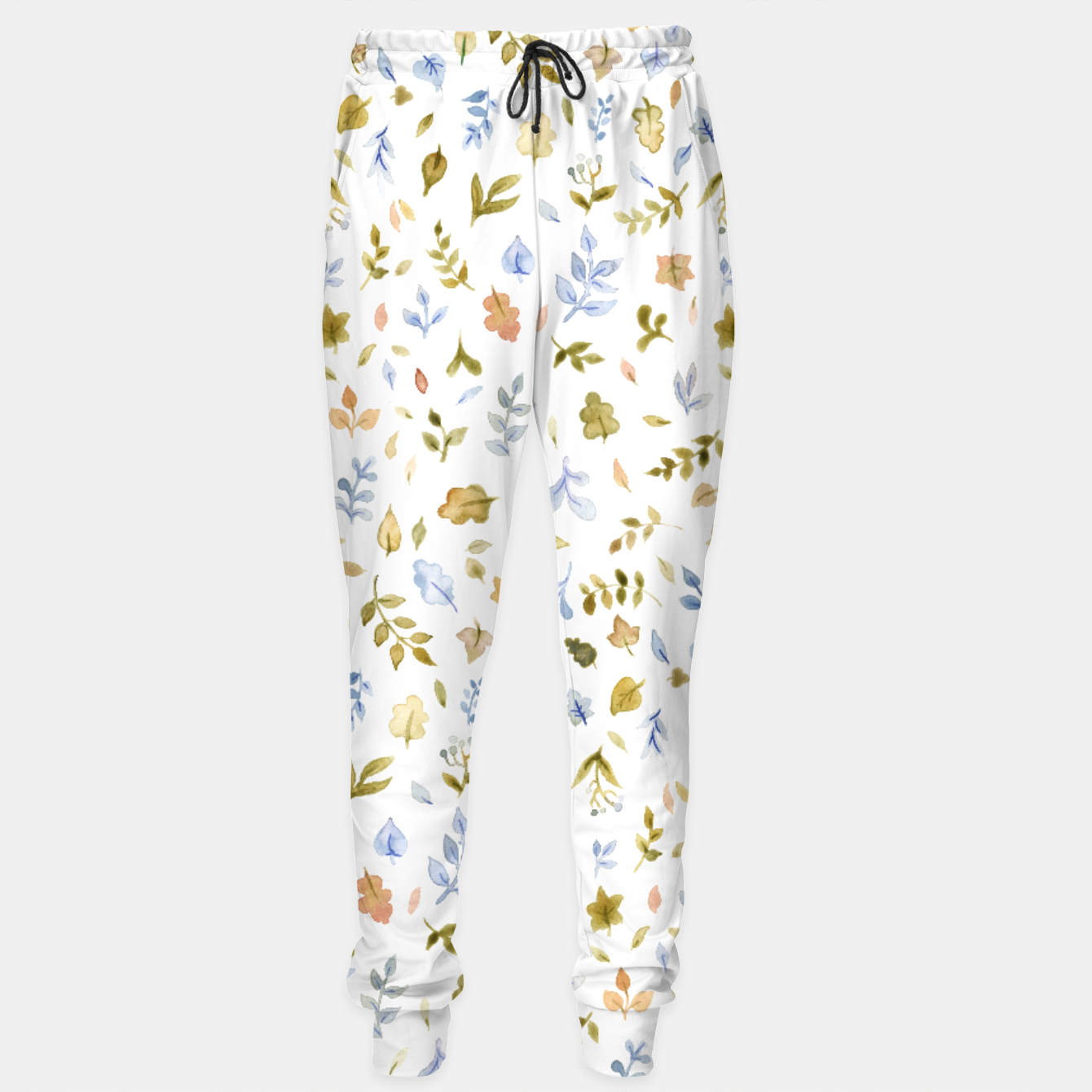 Image of Watercolor leaf Pattern Botanicals Sweatpants - Live Heroes