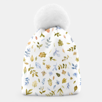 Watercolor leaf Pattern Botanicals Beanie thumbnail image