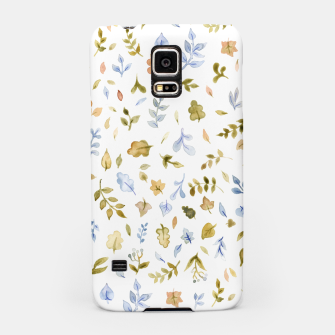 Thumbnail image of Watercolor leaf Pattern Botanicals Samsung Case, Live Heroes