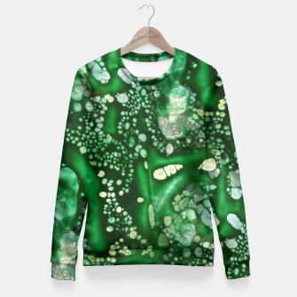 Thumbnail image of Emerald Green Fitted Waist Sweater, Live Heroes