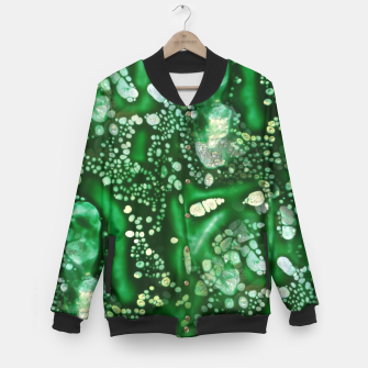 Thumbnail image of Emerald Green Baseball Jacket, Live Heroes