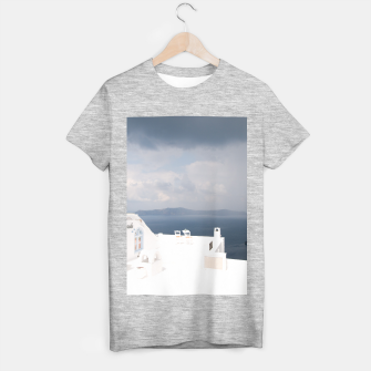Two chairs on Santorini island T-shirt regular thumbnail image