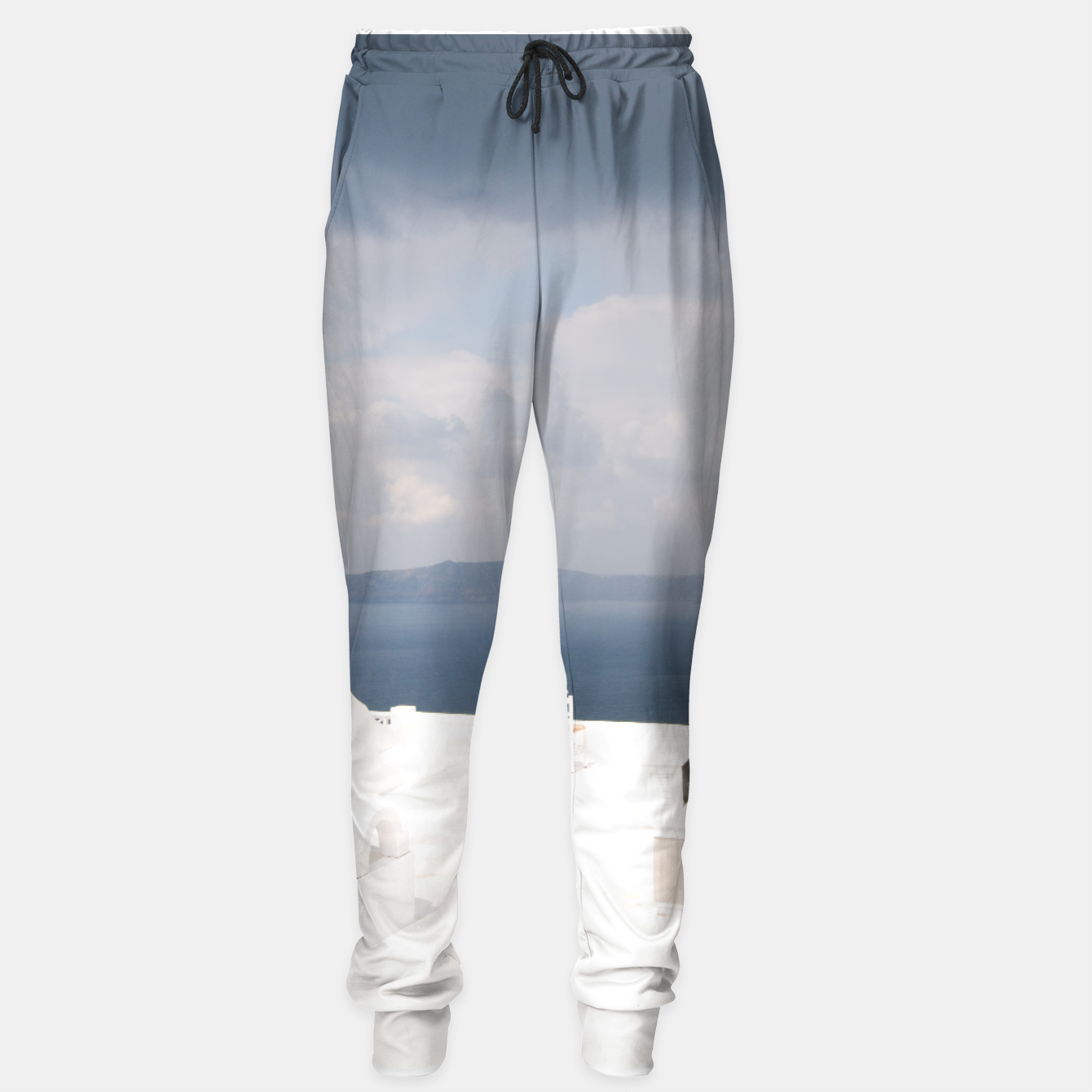 Image of Two chairs on Santorini island Sweatpants - Live Heroes