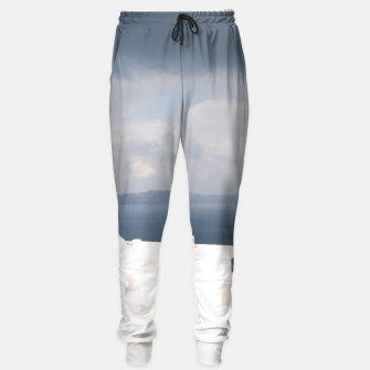 Two chairs on Santorini island Sweatpants thumbnail image