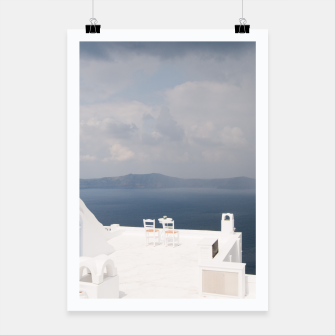 Two chairs on Santorini island Poster thumbnail image