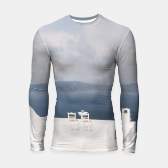 Two chairs on Santorini island Longsleeve Rashguard  thumbnail image