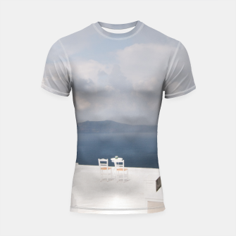 Two chairs on Santorini island Shortsleeve Rashguard thumbnail image