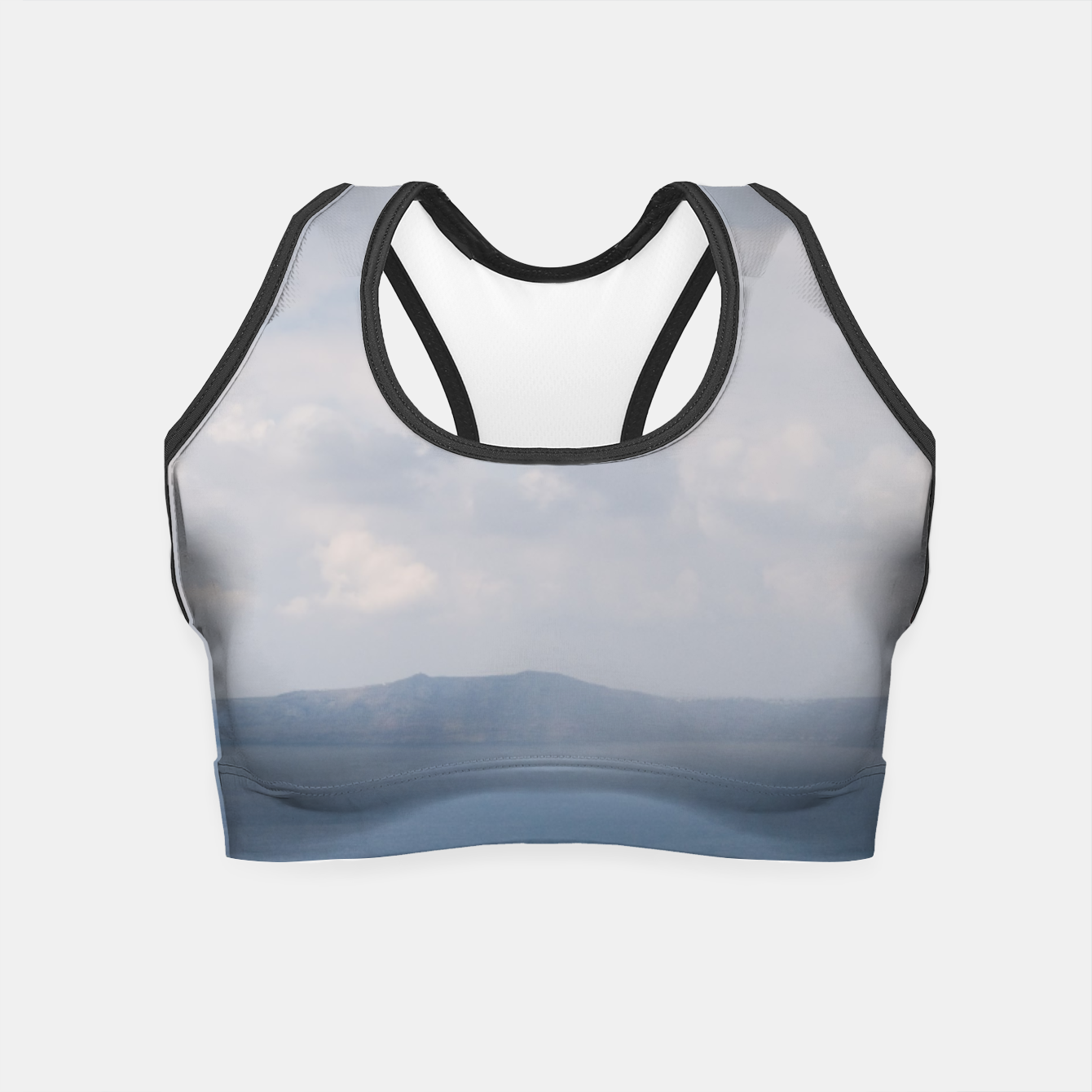 Image of Two chairs on Santorini island Crop Top - Live Heroes