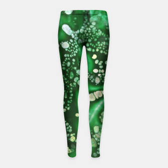 Thumbnail image of Emerald Bubbles  Girl's Leggings, Live Heroes