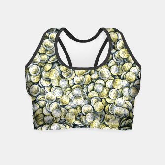 Thumbnail image of Euro coins Crop Top, Live Heroes