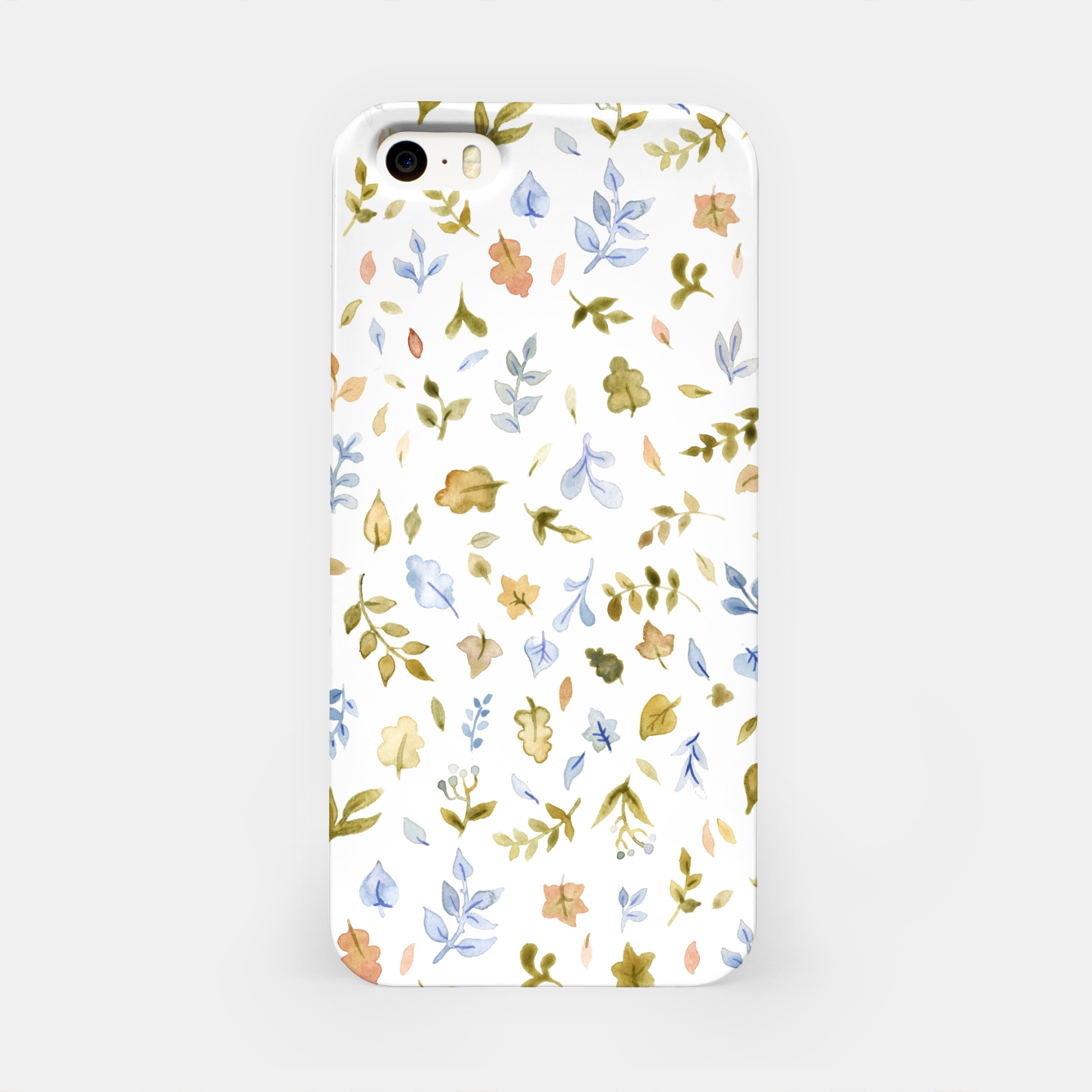 Image of Watercolor leaf Pattern Botanicals iPhone Case - Live Heroes