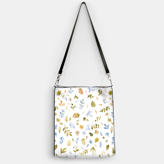 Thumbnail image of Watercolor leaf Pattern Botanicals Handbag, Live Heroes