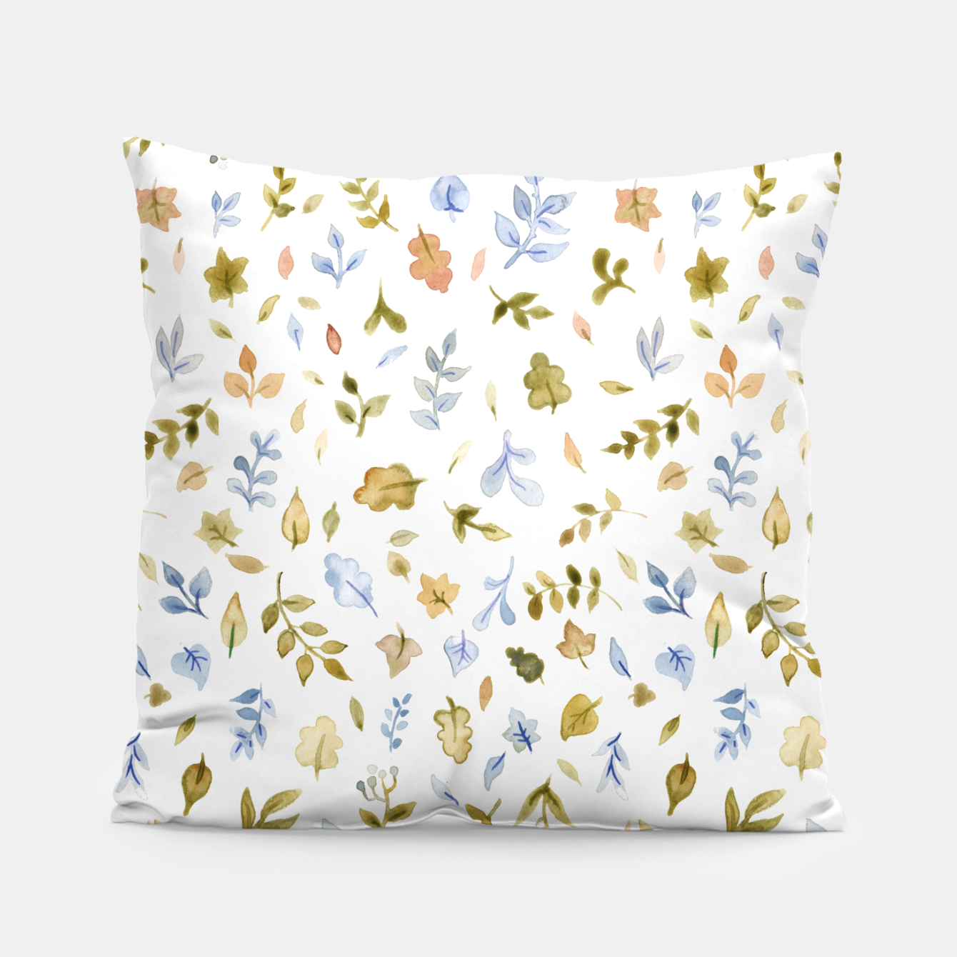 Image of Watercolor leaf Pattern Botanicals Pillow - Live Heroes