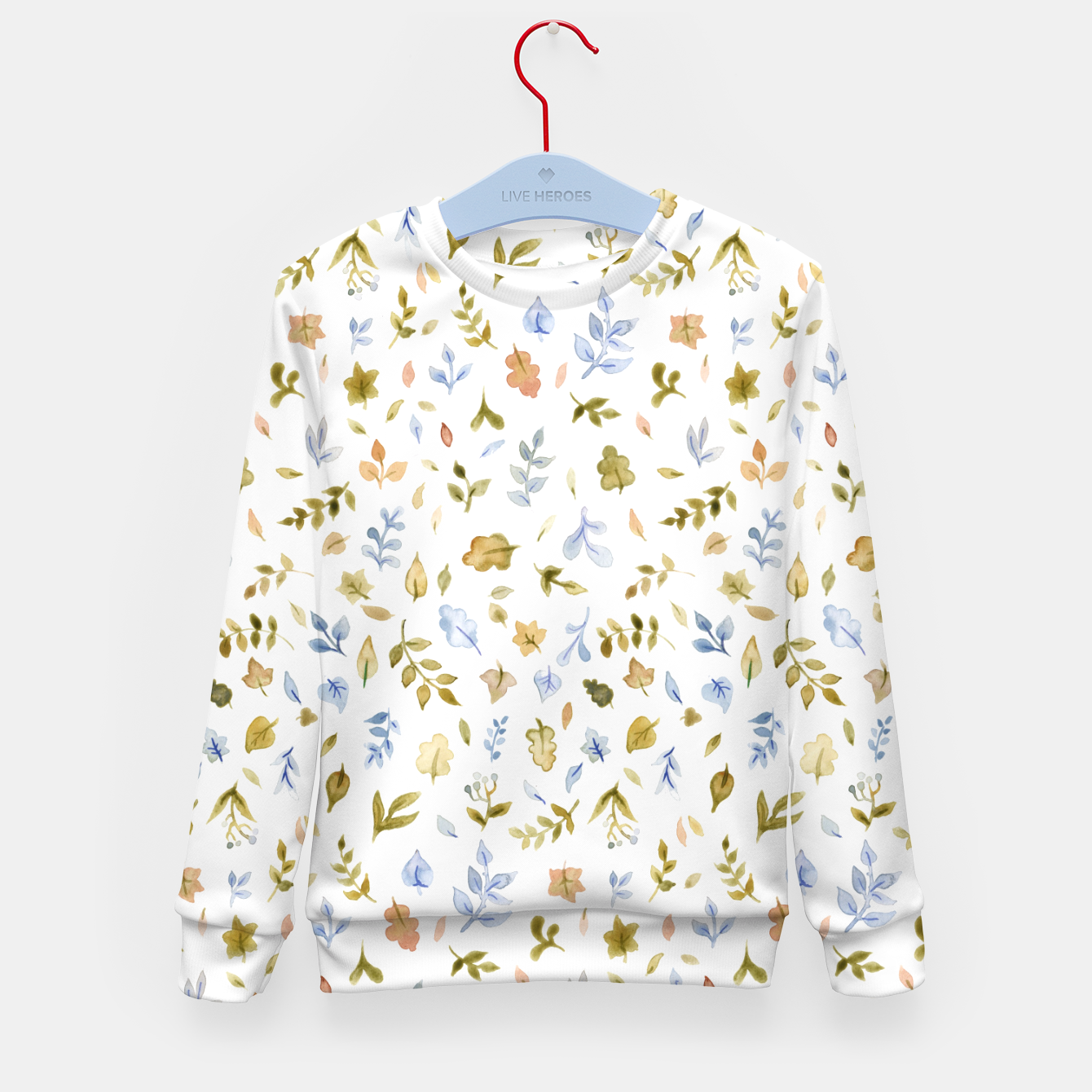 Image of Watercolor leaf Pattern Botanicals Kid's Sweater - Live Heroes