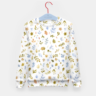 Watercolor leaf Pattern Botanicals Kid's Sweater thumbnail image