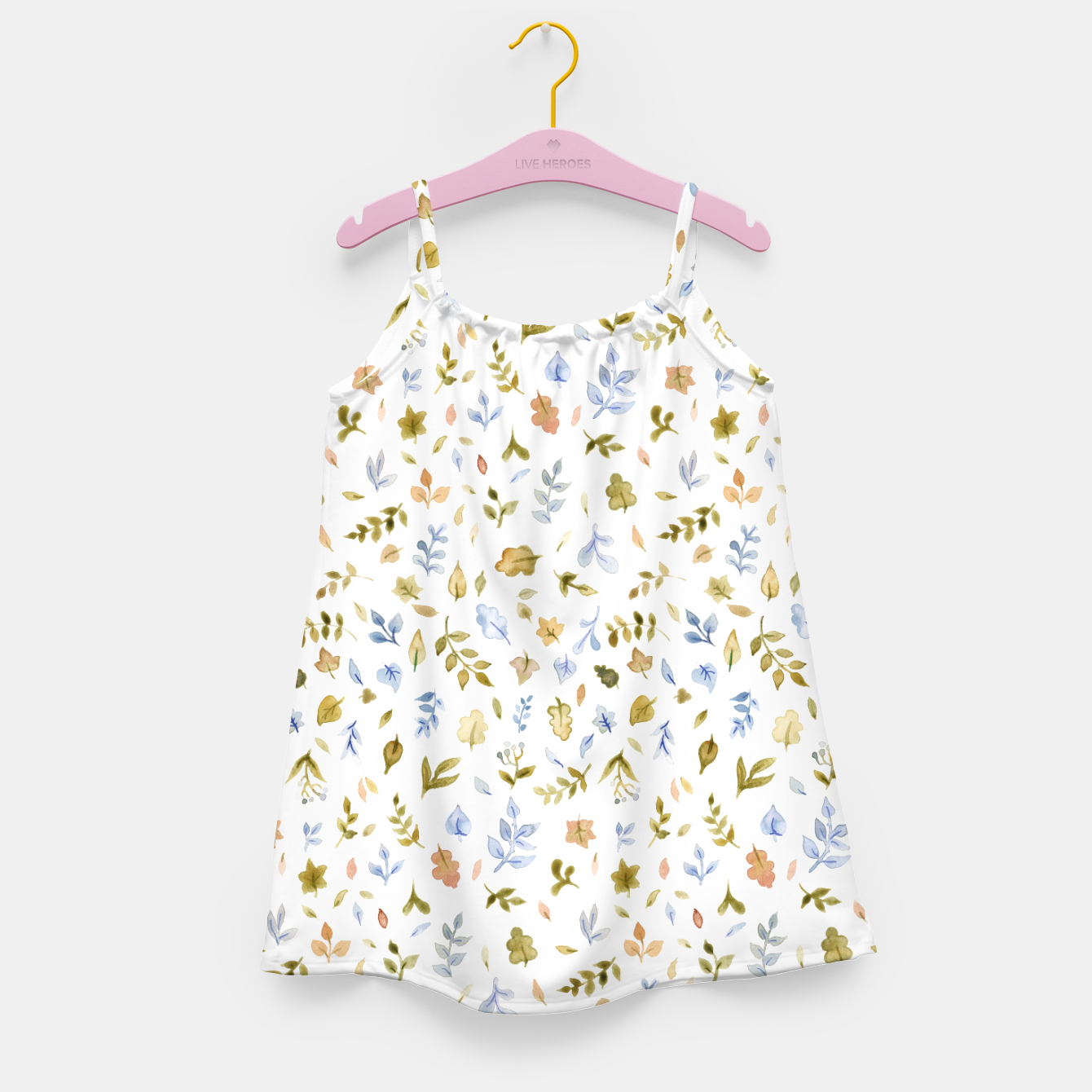 Image of Watercolor leaf Pattern Botanicals Girl's Dress - Live Heroes