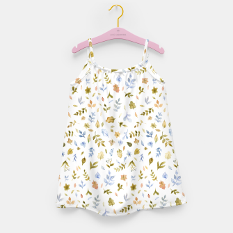 Watercolor leaf Pattern Botanicals Girl's Dress thumbnail image