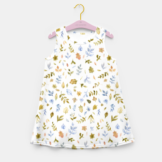 Watercolor leaf Pattern Botanicals Girl's Summer Dress thumbnail image