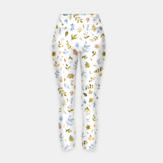 Thumbnail image of Watercolor leaf Pattern Botanicals Yoga Pants, Live Heroes