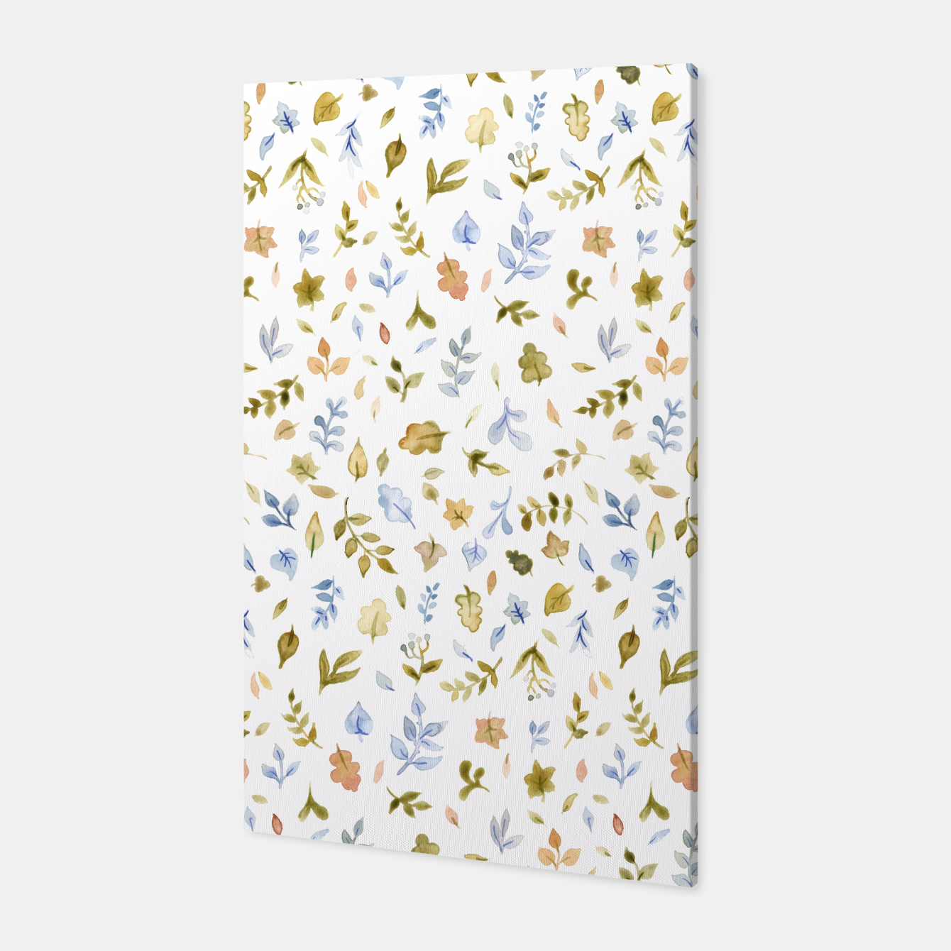 Image of Watercolor leaf Pattern Botanicals Canvas - Live Heroes