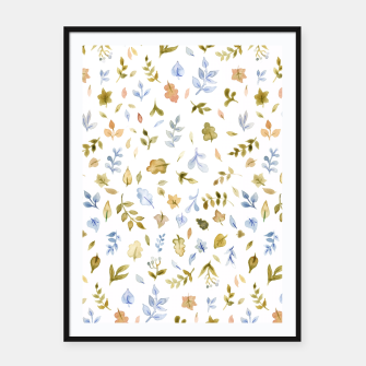 Thumbnail image of Watercolor leaf Pattern Botanicals Framed poster, Live Heroes
