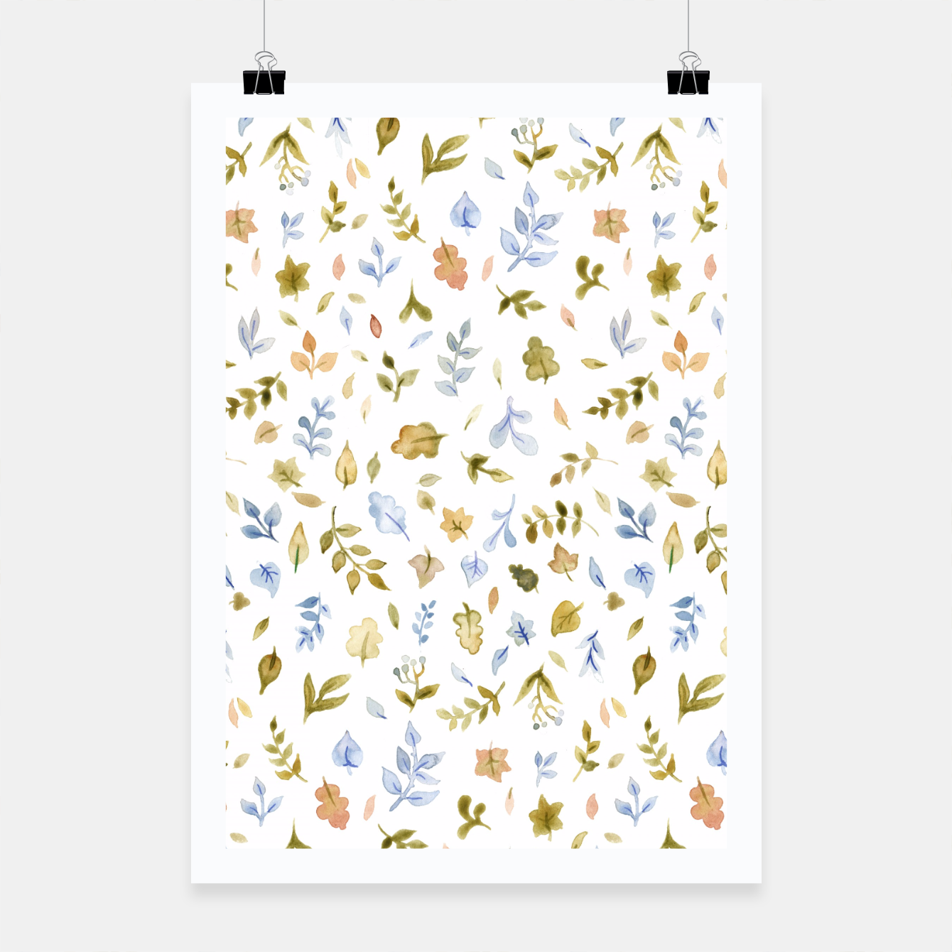 Image of Watercolor leaf Pattern Botanicals Poster - Live Heroes