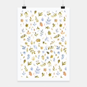 Thumbnail image of Watercolor leaf Pattern Botanicals Poster, Live Heroes
