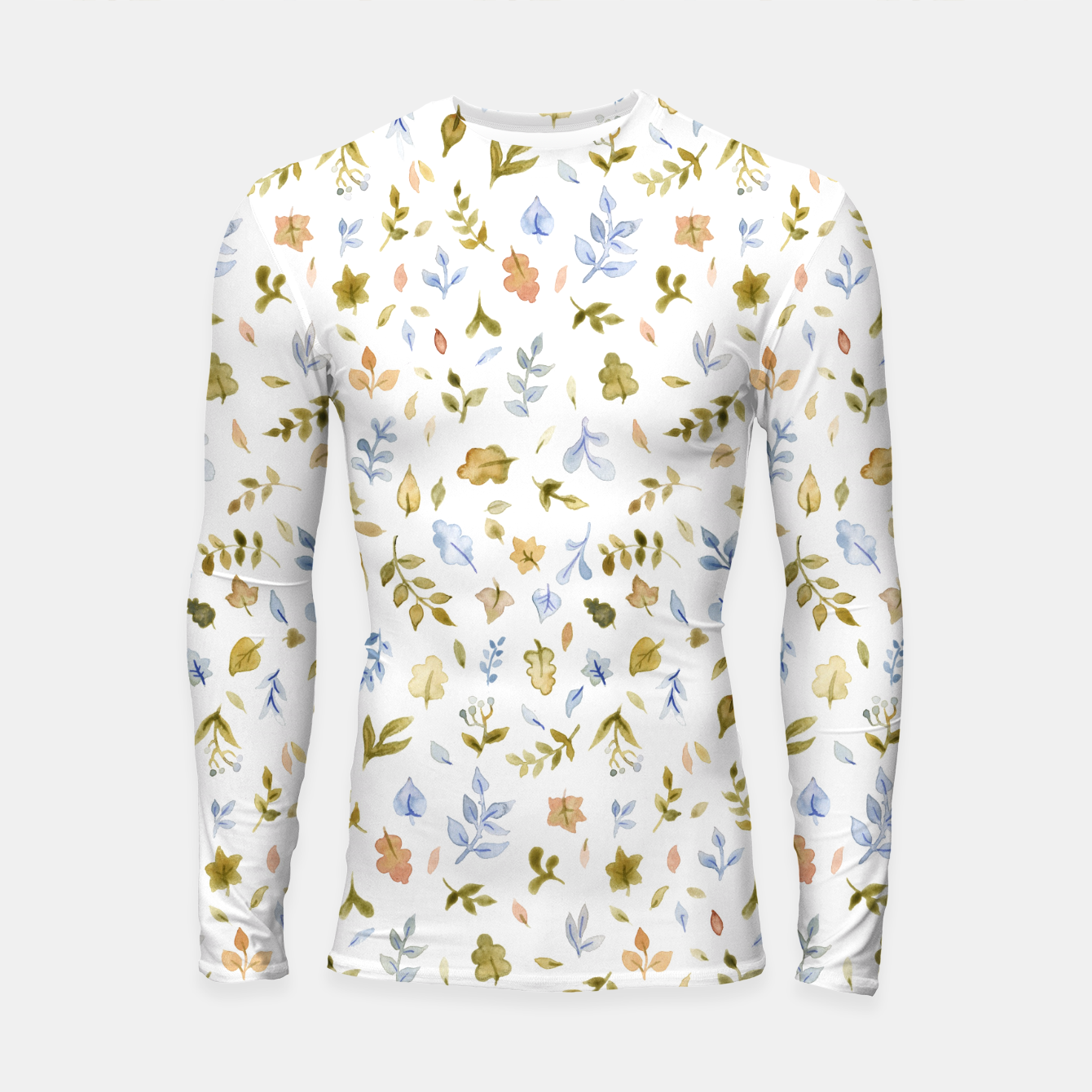 Image of Watercolor leaf Pattern Botanicals Longsleeve Rashguard  - Live Heroes