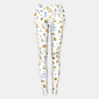 Thumbnail image of Watercolor leaf Pattern Botanicals Leggings, Live Heroes
