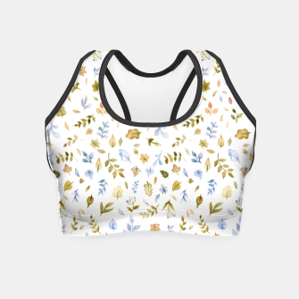 Watercolor leaf Pattern Botanicals Crop Top thumbnail image