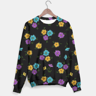 Miniaturka Colorful Embroidered Floral Pattern Sweatshirt, Live Heroes
