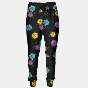 Miniaturka Colorful Embroidered Floral Pattern Trainingshose, Live Heroes