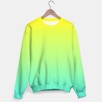 Miniaturka Ombre gradient digital illustration green, blue, yellow colors Sweater, Live Heroes