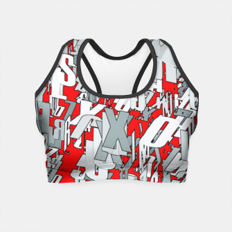 Thumbnail image of The letter matrix RED Crop Top, Live Heroes