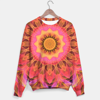 Miniaturka Abstract Peach Violet Mandala Ribbon Candy Lace Sweater, Live Heroes