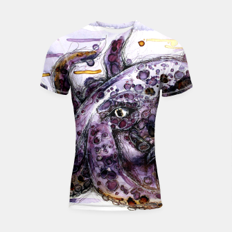 Thumbnail image of CuddleFish in tea Shortsleeve Rashguard, Live Heroes