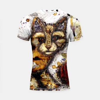 Thumbnail image of Coffee Cat Shortsleeve Rashguard, Live Heroes