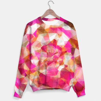 Miniaturka geometric polygon abstract pattern in pink orange brown Sweater, Live Heroes