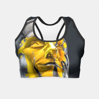Thumbnail image of Love is the Only Gold Crop Top, Live Heroes