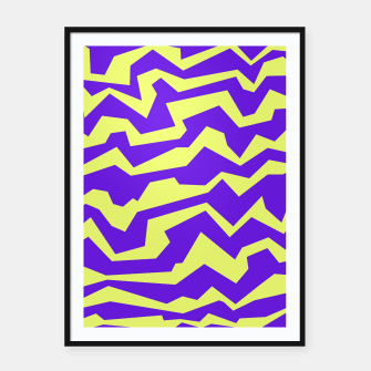 Thumbnail image of Polynoise Vibrant Royal Framed poster, Live Heroes