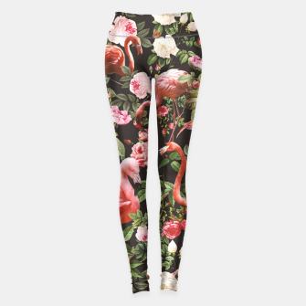 Thumbnail image of Floral and Flamingos Leggings, Live Heroes