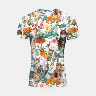 Thumbnail image of Cat and Floral III Shortsleeve Rashguard, Live Heroes