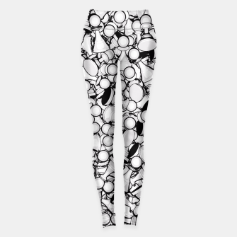 Thumbnail image of Pawn Storm B&W Leggings, Live Heroes