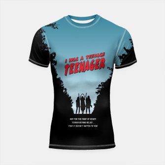 Thumbnail image of Teenage Terror Shortsleeve Rashguard, Live Heroes