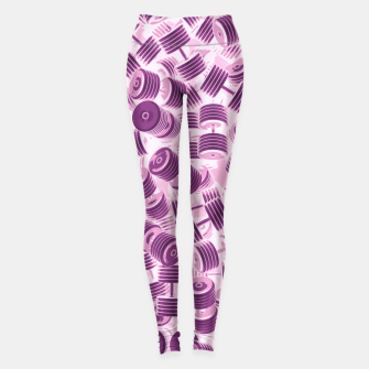 Thumbnail image of Dumbbell Camo PINK Leggings, Live Heroes
