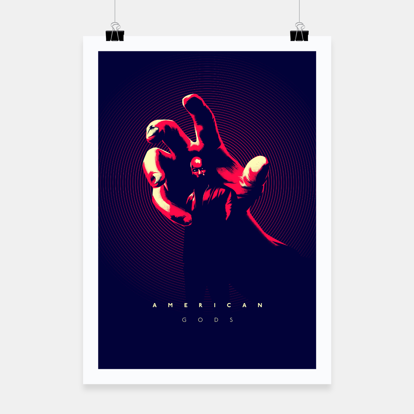 Image of American Gods Poster - Live Heroes