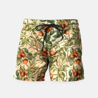 Thumbnail image of  Vintage Fruit Pattern Swim Shorts, Live Heroes
