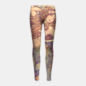 Thumbnail image of Andersen's Little Mermaid Nouveau Girl's Leggings, Live Heroes