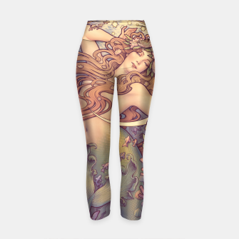 Thumbnail image of Andersen's Little Mermaid Nouveau Yoga Pants, Live Heroes